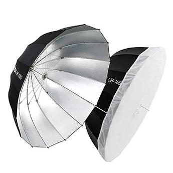 Фото зонт параболический Godox UB-165S серебро/черный 165см